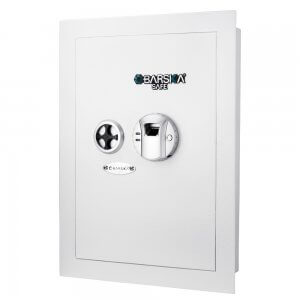 White Biometric Wall Safe by Barska