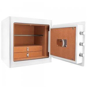BARSKA White Keypad Jewelry Safe Tan Interior AX13104
