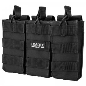 Loaded Gear CX-200 Triple Magazine Pouch (Black) By Barska BI12246