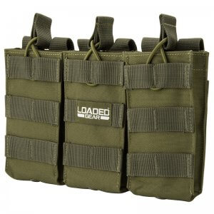 Loaded Gear CX-200 Triple Magazine Pouch (OD Green) By Barska