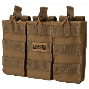 Loaded Gear CX-200 Triple Magazine Pouch (Dark Earth) By Barska BI12298