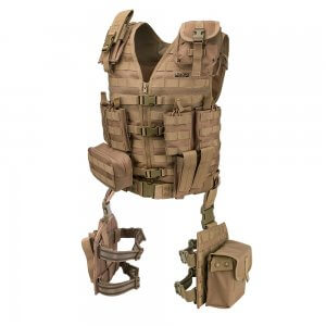 Loaded Gear VX-100 Tactical Vest and Leg Platforms (Flat Dark Earth)