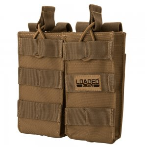 Loaded Gear CX-850 Double Magazine Pouch (FDE) By Barska