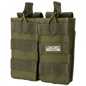 Loaded Gear CX-850 Double Magazine Pouch (OD Green) By Barska