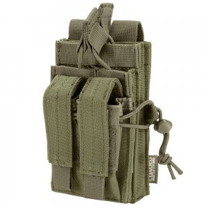 Loaded Gear CX-950 Dual Stacked Rifle and Handgun Mag Pouch (OD Green)
