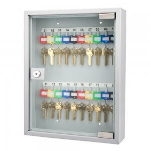 20 Position Portable Key Cabinet with Glass Door By Barska