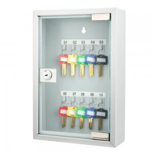 10 Position Key Cabinet with Glass Door By Barska