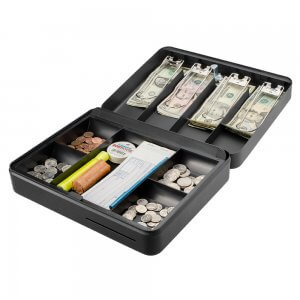 12 inch Standard Fold Out Cash Box with Key Lock