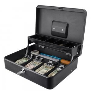 12 inch Standard Register Style Cash Box with Key Lock