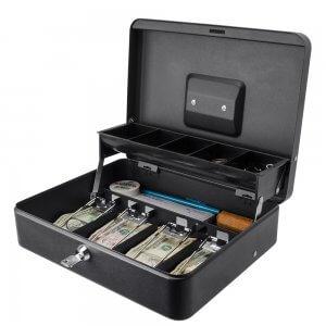 12 inch Standard Register Style Cash Box with Key Lock