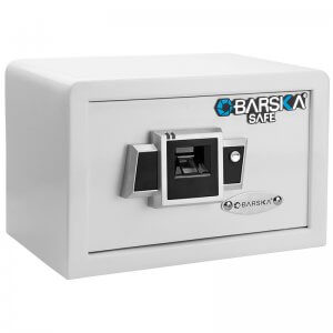 Compact Biometric Safe BX-100 White by Barska