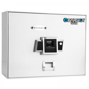 Top Opening Biometric Safe BX-200 White by Barska