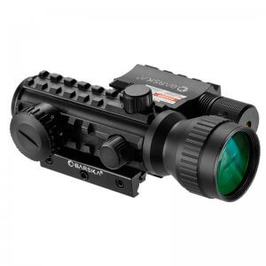 2x30mm Multi-Rail Red Dot Sight GLX Red Laser Combo by Barska