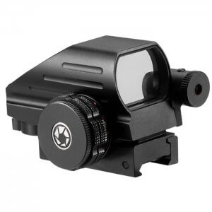 1x Multi Reticle Electro Sight with 5mW Red Laser Sight