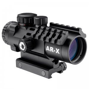 3x32mm IR AR-X Prism Rifle Scope w/ Mounting Rails by Barska
