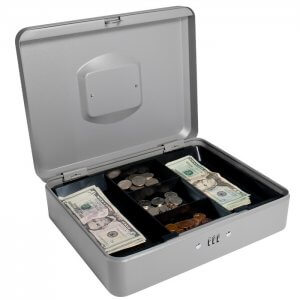Large Cash Box with Combination Lock by Barska