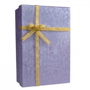 Gift Box Lock Box with Key Lock by Barska