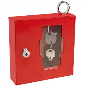 Breakable Emergency Key Box with Attached Hammer