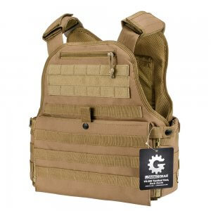 Molle Plate Carrier Tactical Vest VX-500 Loaded Gear FDE
