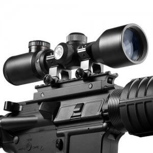 3-9x42mm IR Contour Mil-Dot Compact Rifle Scope By Barska