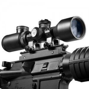 3-9x42mm IR B.D.C. Contour Compact External Range Drum Rifle Scope By Barska