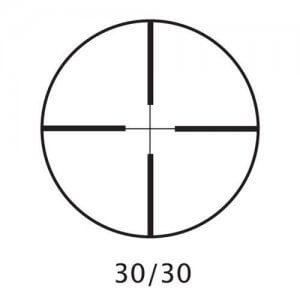 3-9x40mm Huntmaster 30/30 Silver Rifle Scope w/ Rings by Barska
