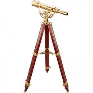 15-45x50mm Anchormaster Classic Brass Spyscope w/ Mahogany Tripod by Barska