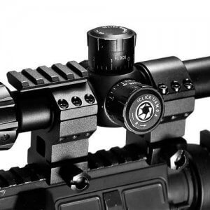 """30mm Standard Tactical Rings w/ 1"""" Inserts"""