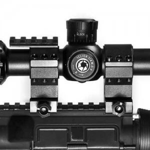 """30mm Low Tactical Rings w/ 1"""" Inserts"""