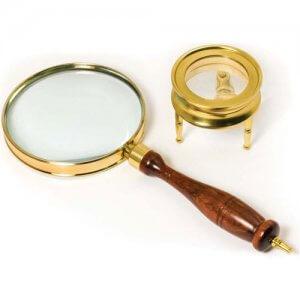 Brass Magnifier Set by Barska