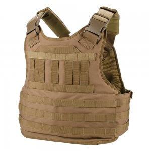 Molle Plate Carrier Tactical Vest VX-500 Loaded Gear FDE