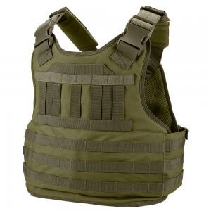 MOLLE Plate Carrier Tactical Vest VX-500 Loaded Gear OD Green