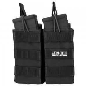 Loaded Gear CX-850 Double Magazine Pouch (Black) By Barska