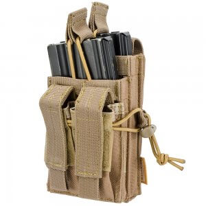 Loaded Gear CX-950 Dual Stacked Rifle and Handgun Mag Pouch (FDE)