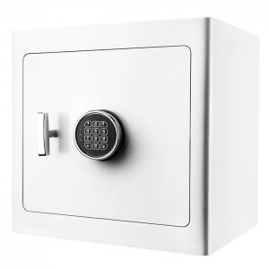 White Keypad Jewelry Safe Light Interior