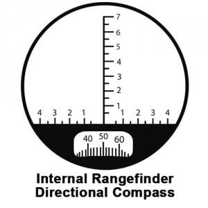 7x50mm WP Deep Sea Range Finding Reticle Compass Binoculars