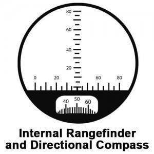 7x50mm WP Battalion Range Finding Reticle w/ Compass Binoculars by Barska