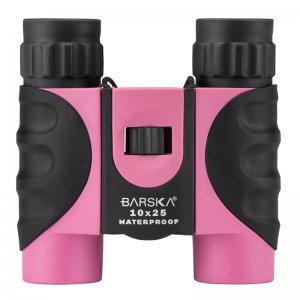 10x25mm Pink Waterproof Compact Binoculars by Barska