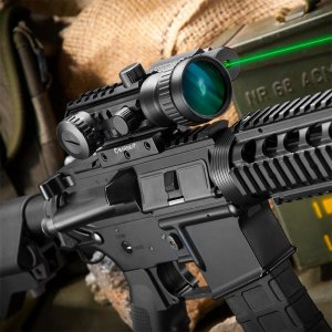 2x30mm Multi-Rail Tactical Red Dot Sight GLX Green Laser Combo by Barska