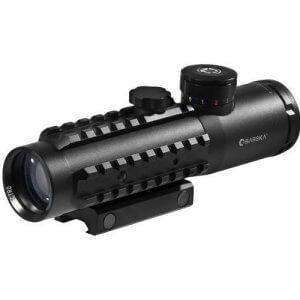 4x30mm IR Electro Sight Multi-Rail Tactical Scope Green Laser 210 Lumen Light Combo By Barska