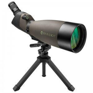 25-75x100mm WP Blackhawk Spotting Scope Angled By Barska