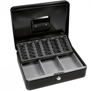 Cash Box and Coin Tray with Key Lock by Barska