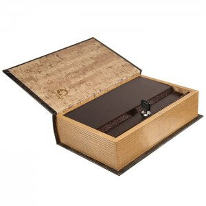 Antique Book Lock Box with Key Lock by Barska