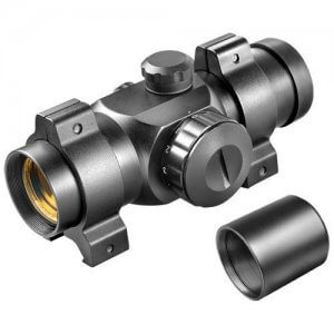 1x 25mm Red Dot Scope w/ Weaver Style Rings by Barska