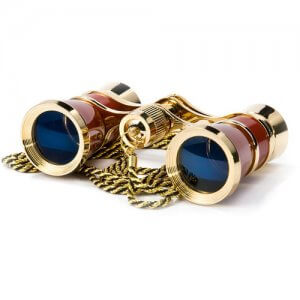 3x25mm Blueline Opera Glasses by Barska (Red / Gold)