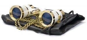 3x25mm Blueline Opera Glasses w/ Light by Barska  (White / Gold)