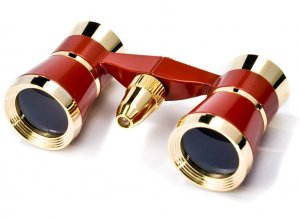 3x25mm Blueline Opera Glasses w/ Light by Barska (Red / Gold)