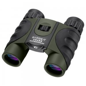 10x25mm Green Waterproof Compact Binoculars by Barska