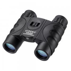 10x25mm Black Waterproof Compact Binoculars by Barska