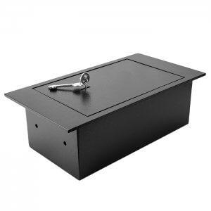 Floor Safe With Key Lock 0.22 Cubic Ft.by Barska